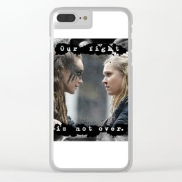 Our Fight Is Not Over Clear iPhone Case