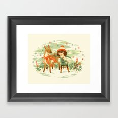 A Wobbly Pair Framed Art Print