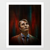 hannibal Art Prints featuring Hannibal by charlotvanh