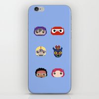 big hero 6 iPhone & iPod Skins featuring Big Hero 6 by Alison V.