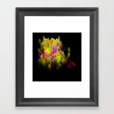 Colors melting Framed Art Print