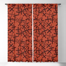 Chocolate Cream - X-Plosion Decorative Pattern Blackout Curtain