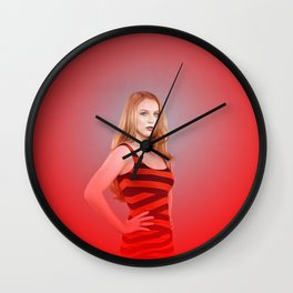 Molly C. Quinn - Celebrity Art (Hot Red) Wall Clock