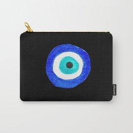 Single Evil Eye Amulet Talisman Ojo Nazar - on black Carry-All Pouch