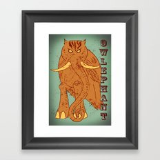 Owlephant Framed Art Print