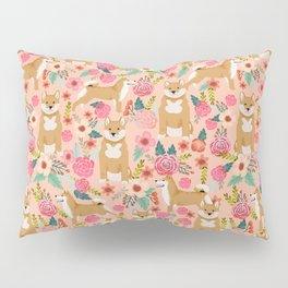Shiba Inu floral dog must have gifts for shiba lovers florals dog breed Pillow Sham