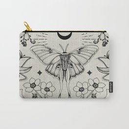 Bohemian Luna Moth Carry-All Pouch