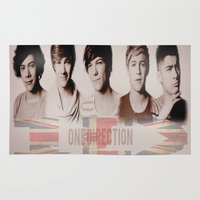 one direction Area & Throw Rugs featuring One Direction by store2u