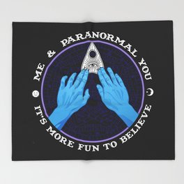 Me & Paranormal You - James Roper Design - Ouija (white lettering) Throw Blanket