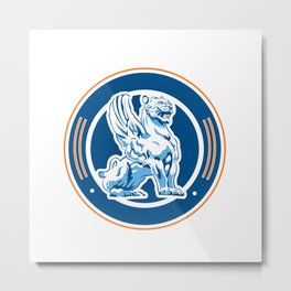 tiger wings emblem Metal Print
