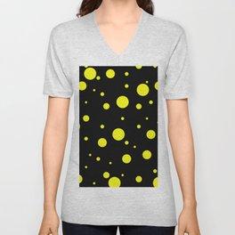 Yellow Bubbles Unisex V-Neck