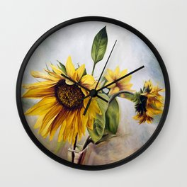 """Oil painting """"Sunflower"""" Wall Clock"""