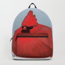 After Christmas cardinal bird Backpack