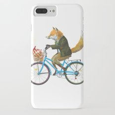 Fox goes to Tea (white) iPhone 7 Plus Slim Case