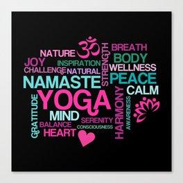 Yoga Benefits for Life Canvas Print