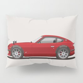 Legendary Classic Red 240z Fairlady Vintage Retro Cool German Car Wall Art and T-Shirts Pillow Sham