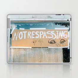 no trespassing Laptop & iPad Skin