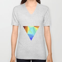minimal geometry abstract art Unisex V-Neck