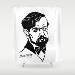Claude Debussy Shower Curtain