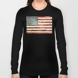 Painted Stars And Stripes Long Sleeve T-shirt