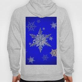"""MORE SNOW"" BLUE WINTER ART DESIGN Hoody"