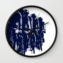 Peloton in Blue Wall Clock
