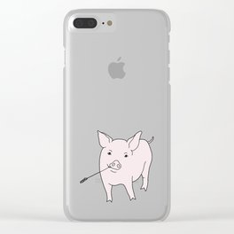 the pig Clear iPhone Case