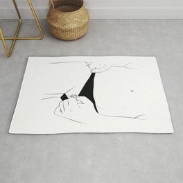 Showing vegina, sensual art,One Line Sexual Printable, Nude Female Body, Minimalist Naked Art, Rug