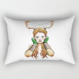 Antler Annie Rectangular Pillow