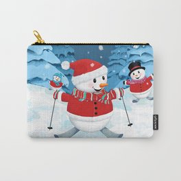 Christmas Snowman Family III Carry-All Pouch