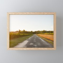 Driving in Bordeaux Framed Mini Art Print