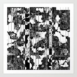 A Linear Landscape Art Print