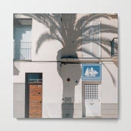 Sitges, Catalunya - Tree Shadow #2 Metal Print