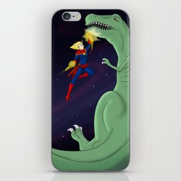 Carol Punches a Dino in Space iPhone Skin
