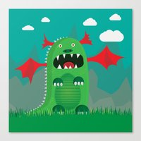 dragons Canvas Prints featuring Dragons! by SkippyZA