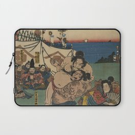 A game of Sumo Wrestling. Laptop Sleeve