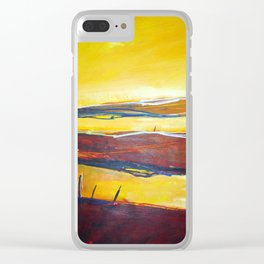 Across the Line Clear iPhone Case