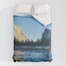 Yosemite USA Rock Nature Parks stone Rivers Crag Cliff park river Stones Comforters