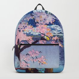 Nighttime Riverside  Backpack
