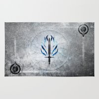 dragon age Area & Throw Rugs featuring Dragon Age Templar by Toronto Sol