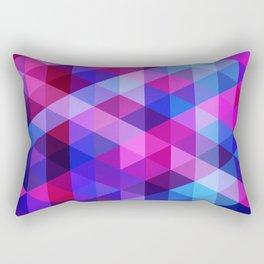 Blue & Pink Geo Rectangular Pillow