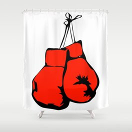 Hanging Boxing Gloves Shower Curtain