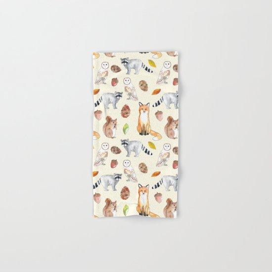 Woodland Critters Hand & Bath Towel