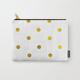 Faux gold foil polka dots Carry-All Pouch