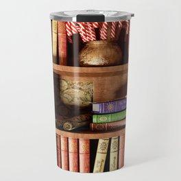 Santa's Bookshelf Travel Mug