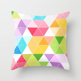 Colorful Triangle Mosaic Throw Pillow