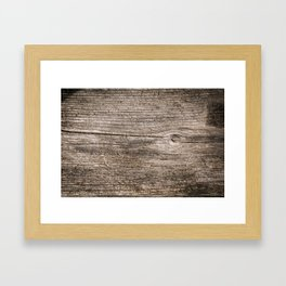 The old boards . Wood . Framed Art Print