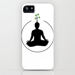 Meditation and ideas iPhone Case