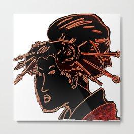 japanese lady2 Metal Print