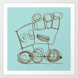Ben's Monster Trucks no.1 Art Print